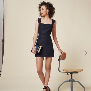 Reformation Parakeet Navy Linen Mini Dress NWOT
