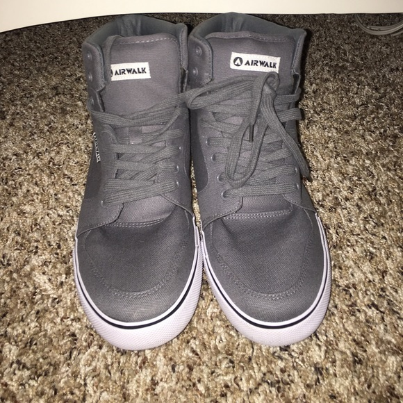 1565486988 Airwalk Shoes - Knock Off Gray High Top Vans