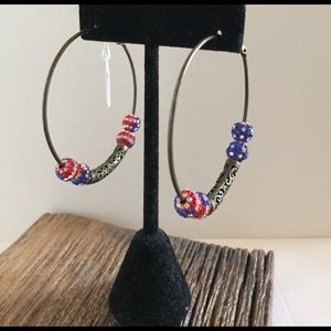 Jewelry - 4th of July bronze earrings