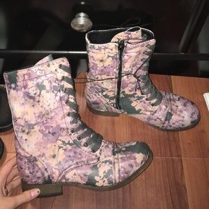Brand New Floral Combat Boots!