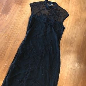 Black lace Vivienne Tam dress