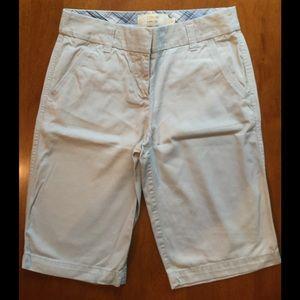 J Crew Pants - J Crew 2 Stone Chino Flat Front Shorts EUC