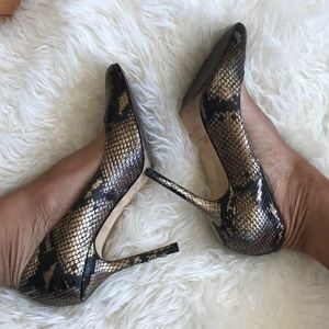Jimmy Choo Shoes - jimmy choo snakeskin print heels