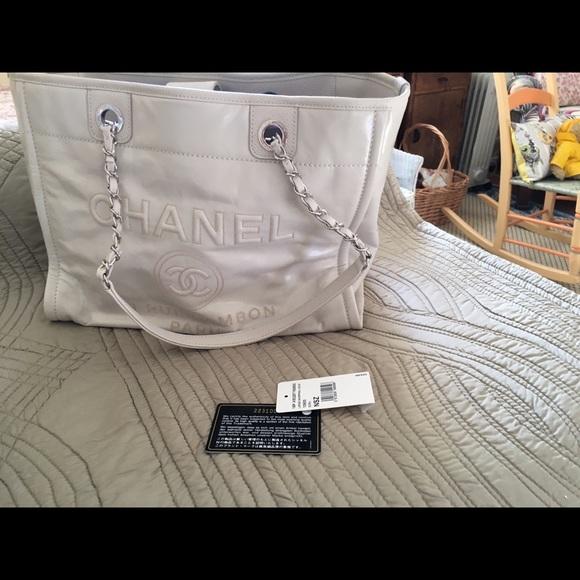 521e7e823d19 CHANEL Bags | Leather Deauville Tote Medium | Poshmark