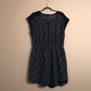 H & M Dress Speckled Black and White