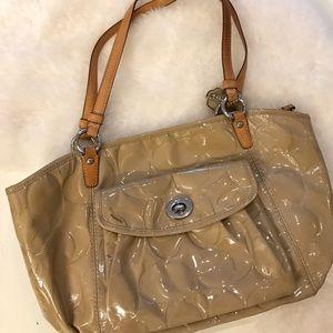 Beige Coach handbag