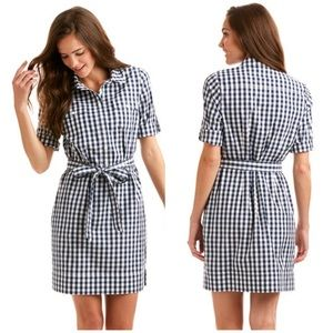 Vineyard Vines Dresses & Skirts - Vineyard Vines Blue & White Gingham Shirt Dress