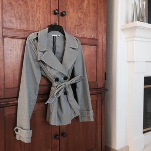 Halogen Gingham Trench Coat