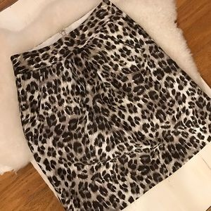 Animal print skirt from Banana Republic