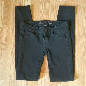 American Eagle Outfitters Pants - Black AEO jeggings 00 SHORT