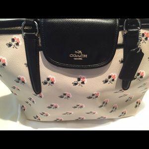 SALE Coach Leather Floral Bag
