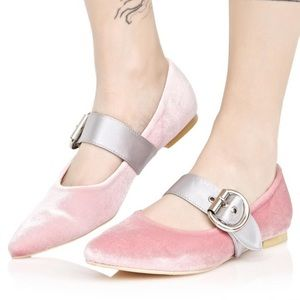 Shoes - Sandy Dee Baby Doll Blush One Strap Flats