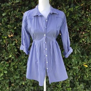 H&M Tops - 🌺 Blue and white striped H&M blouse.