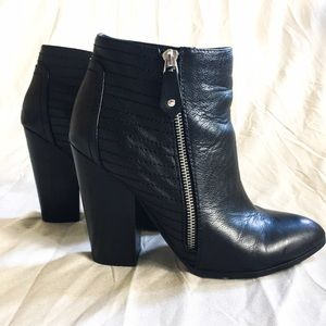 "Chelsea & Zoe Shoes - LEATHER ""CHELSEA & ZOE"" BOOTIES"