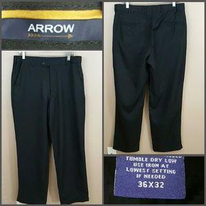 Mens Black Slacks by Arrow, Size 36x32