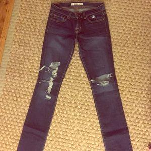 J Brand Denim - J Brand Blue Low Rise Pencil Leg Jeans size 26