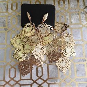 Jewelry - Beautiful Doily Heart earrings