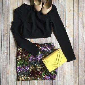 do & be Dresses & Skirts - do & be Sequins Multicolor Mini Skirt Medium