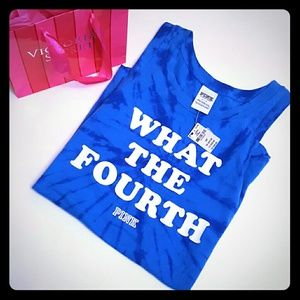 PINK Victoria's Secret Tops - New! PINK 4th of July tank! Small