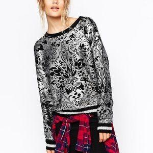 MINKPINK Sweaters - Minkpink silver metallic sweater