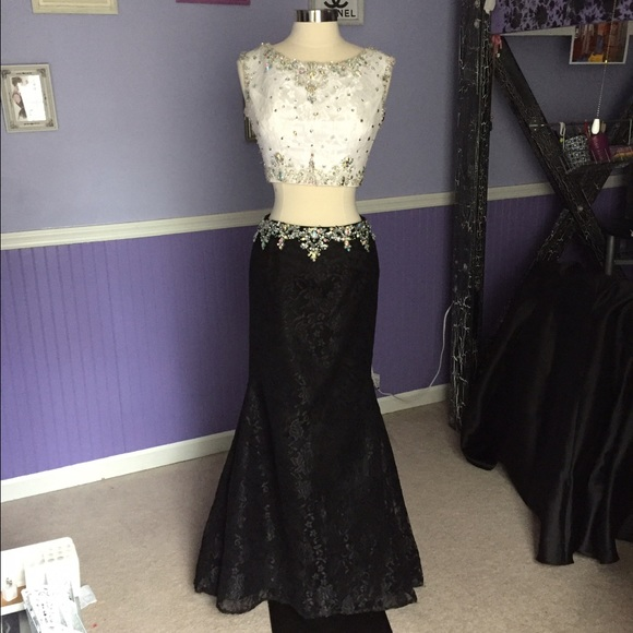 Mori Lee Dresses Black White Two Piece Prom Dress Poshmark