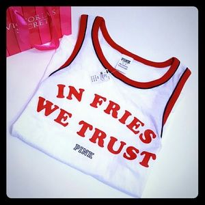 PINK Victoria's Secret Tops - New with tags! PINK fries tank! Med.