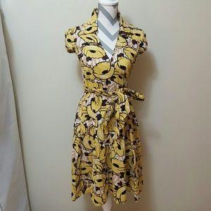 Moda International Dresses & Skirts - Victoria Secret Floral Pin-Up Wrap Swing Dress