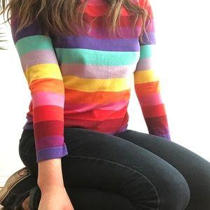 Topshop Tops - rainbow long sleeve