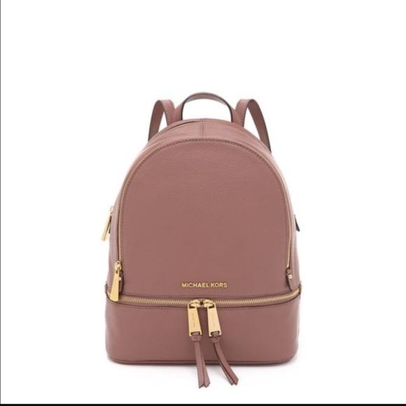 3f245690b1cbc4 Michael Kors Dusty Rose Rhea backpack. M_58c49afabcd4a7a03a01347f