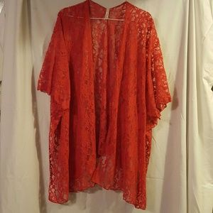 Magic Fit Sweaters - Red Lace Cover up