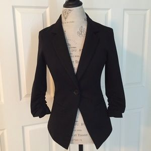 Gibson Jackets & Blazers - 🎉Final Sale🎉Gibson Knit 3/4 Ruched Sleeve Blazer