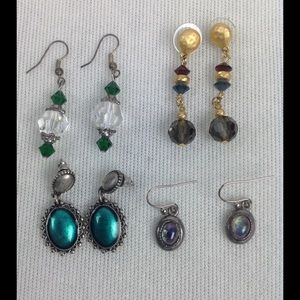 Jewelry - Assortment of Blue/Green Earrings