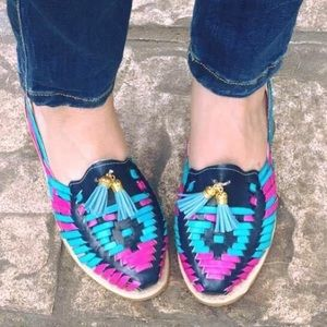 Leather Huaraches Sandals Flats Loafers Tassels