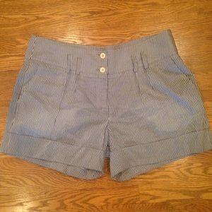 Armani Collezioni Silk Blend Striped Shorts