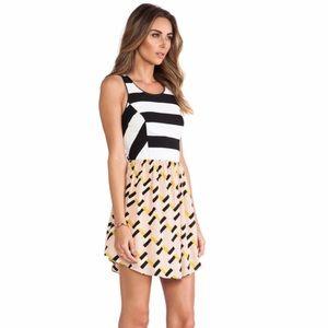 Neon Geo Fit & Flare Dress