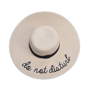 """Do not disturb"" Floppy Beach Hat-BEIGE"