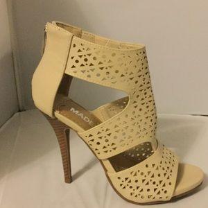 Shoes - Nude bootie heel. No shoe box