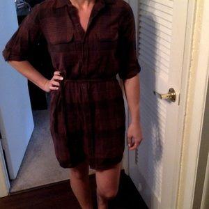 LOFT Dresses - Plaid LOFT shirtdress