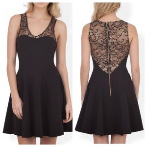 Closet Dresses & Skirts - Closet Lace Contrast Godet Ponti Dress