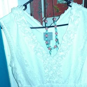 Dresses & Skirts - White lace dress. Free Necklace. LAST DAY!!