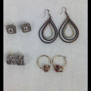 Jewelry - Bundle of Four Bi/Tri Colored Earrings