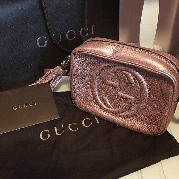 f24629a37c81 Gucci Bags | Exclusive Japan Exclusive Metallic Pink Bag | Poshmark