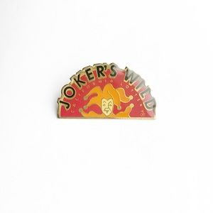 Vintage Accessories - '90 Joker's Wild Enamel Pin