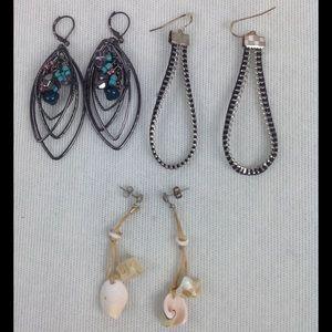 Jewelry - Bundle of Three Earrings