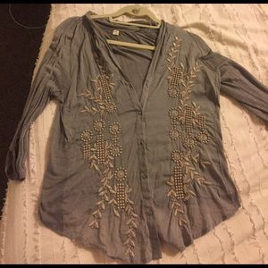 Anthropologie Tops - Anthropologie button-up blouse size small