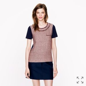 J. Crew Tops - {J. Crew} Tweed-front tee in Camel, $75