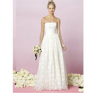 After six bride Dresses & Skirts - Strapless white lace dress - never worn with tags