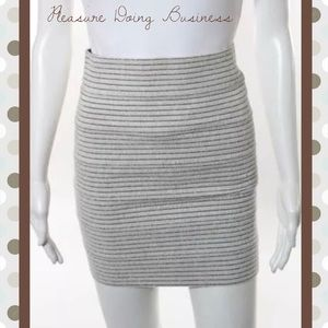 Pleasure Doing Business Dresses & Skirts - PLEASURE DOING BUSINESS White/Brown Stripe Skirt