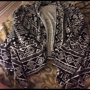 Mascara Sweaters - Aztec open front cardigan
