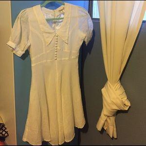Anthropologie linen dress